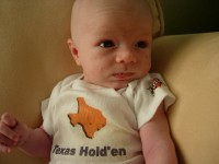 Holden is about one month old.