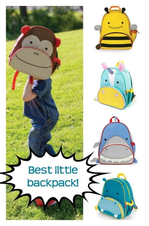 The best little backpack is the Skip Hop Zoo Pack